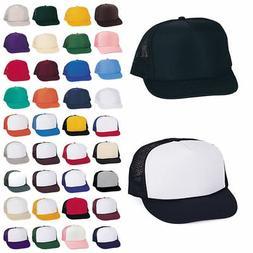 50 Lot Trucker Baseball Hats Caps Foam Mesh Blank Adult Yout