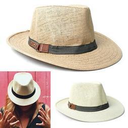 1 Men Women Classic Wide Brim Summer Trilby Cap Fedora Hat S