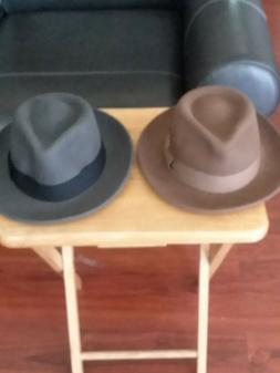 2 used only once fedora hats for men size large
