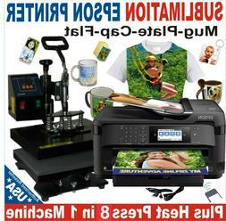 8 in1 HEAT PRESS TRANSFER 12X15 PLATE T-SHIRT HAT MUG  PRINT