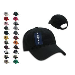 7 Dozen DECKY Washed Cotton Polo Low Crown 6 Panel Dad Caps