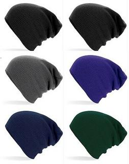 Adults Mens Womens Warm Soft Feel Knitted Acrylic Slouch Bea