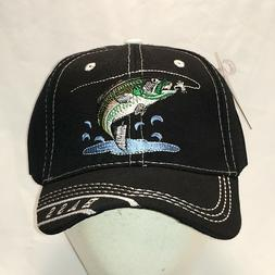 Bass Fishing Hat Black Baseball Cap Mens Hats Fisherman Caps
