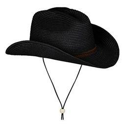 Best Straw Cowboy Hat Wide Brim Fedora Summer Beach Panama S