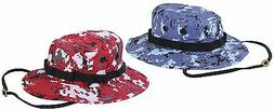 Blue or Red Digital Camouflage Boonie Hat - Rothco Digi Camo