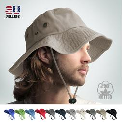 BOONIE BUCKET HAT MILITARY FISHING CAMPING HUNTING WIDE BRIM