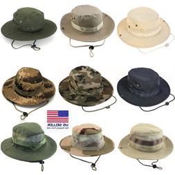 Boonie Bucket Hats Outdoor Fishing Hunting Wide Brim Mesh Ca