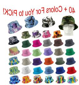 Bucket Hat Cap Cotton Military Fishing Camping Hunting Trave
