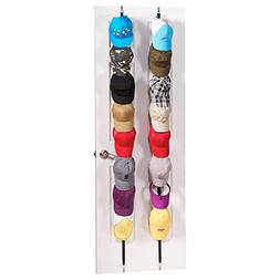 Cap Rack 2 Pack - Holds up to 16 Caps for Baseball Hats, Bal