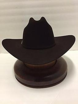 Stetson Cowboy Hat 100X Beaver CHOCOLATE Fur EL PRESIDENTE+H