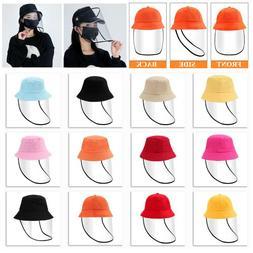 Cute Detachable Full Face Shield Fisherman Hat Anti Spitting