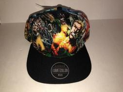 Dc Comics The Flash Snapback Cap Hat Adjustable Flat Bill Gr
