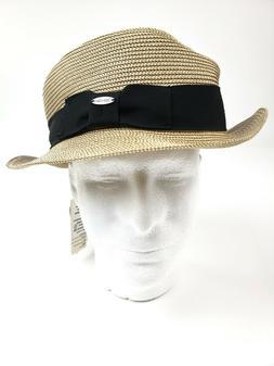 Deevoov Men's Straw Hats Short Brim Fedora Summer Sun Hat, L