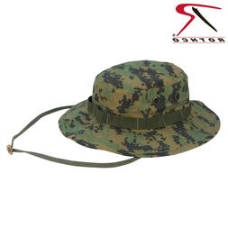 Digital Woodland Camo Boonie Hat Vented Fitted Ripstop Rothc