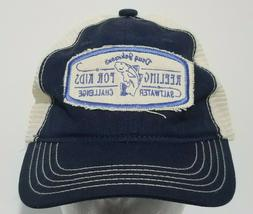 Doug Johnsons Reeling For Kids Fishing Snapback Dad Hat Blue