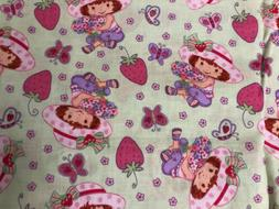 Fabric Vintage c.2004 STRAWBERRY SHORTCAKE WITH HATS - BTFQ