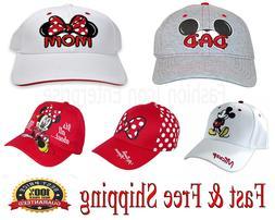 Disney Family Hats Collection Mickey & Minnie Baseball Cap O