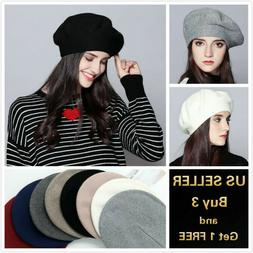 Fashion Classic Vintage French Style Soft Wool Blended Beret