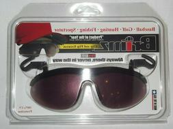 New Brimz Fire Sunglasses flip up sports clip 100%UV