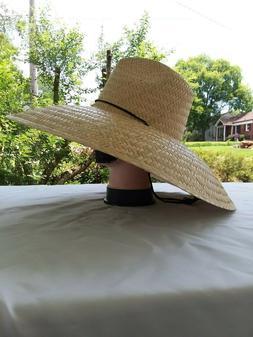Fisherman Wide Brim Straw Sun Hat,  Sombrero de Palma Para T