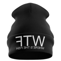 Fishing Gifts for men - WTF Wheres the Fish Funny Beanie Hat