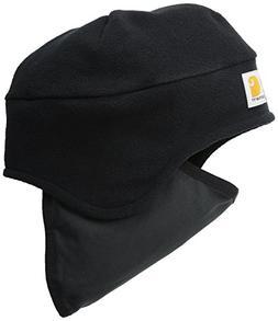 Carhartt Men's Fleece 2-In-1 Headwear,Black,One Size