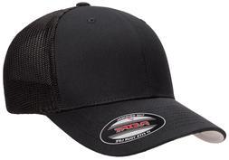 Flexfit® 6511 Trucker Mesh Baseball Cap Plain Blank Hat Cur