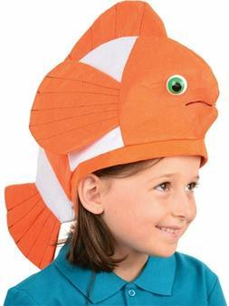 Funny Bright Orange Hats Clown Fish Hat Cap Costume Accessor