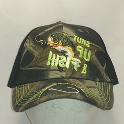 Funny Fishing Hat Camo Black Baseball Cap Mens Hats Fisherma