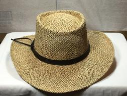 Stetson Gambler Seagrass Straw Outdoorsman Hat Natural S/ ME