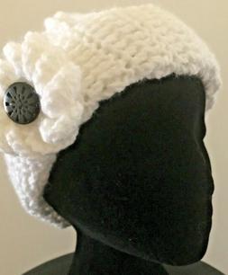 Hat Beanie Ponytail Handmade Crochet Women Accessories White