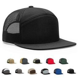 Richardson Hi-Pro 7- Panel Trucker Cap Baseball Hat Flat Bil