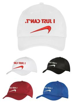I JUST CAN'T NIKE EMBROIDERED HATS CAPS - ADJUSTABLE