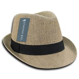 Decky Jute Lightweight Fedora Fedoras Trilby Panama Hats Hat