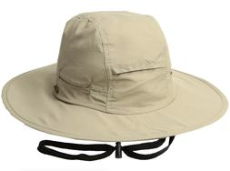 Stetson Khaki No Fly Zone Big Brim Cap with Camo Under Brim