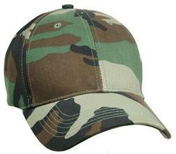 Kids Camo Baseball Cap Woodland Camouflage Boys Hat Rothco 9
