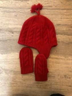 POLO RALPH LAUREN Kids Knit  Hat, Skull Ski Watch Cap, RED A