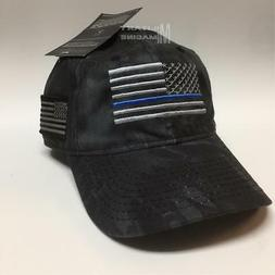 Kryptek Punisher Hat Black w/ American Flag patch Outdoor Ca