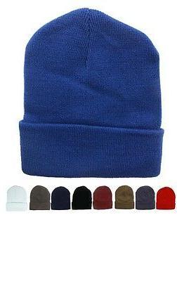 72pc Solid Color Beanie Hats Winter Knit Hat Toboggan Ski Ca