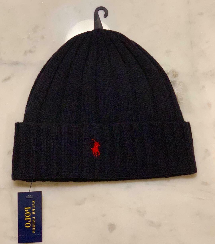 Polo Ralph Lauren Beanie Wool Cuffed Pony Logo NWT Ski hat