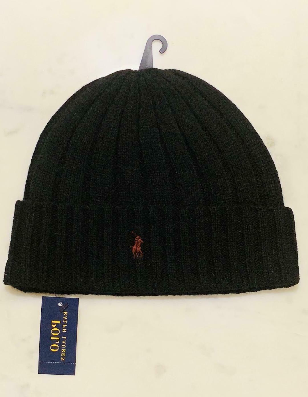 Polo Wool Cuffed Ribbed Pony Logo PP0054 NEW NWT Ski hat