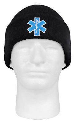 EMT Watch Cap Knitted Hat Star of Life Logo Embroidered Medi