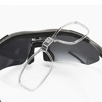 Walleva Polarized Sunglasses+Hat Clip+Prescription Insert