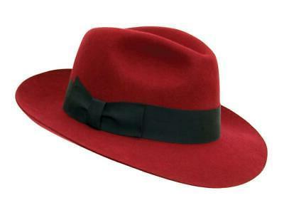unisex fedora hat s m red black