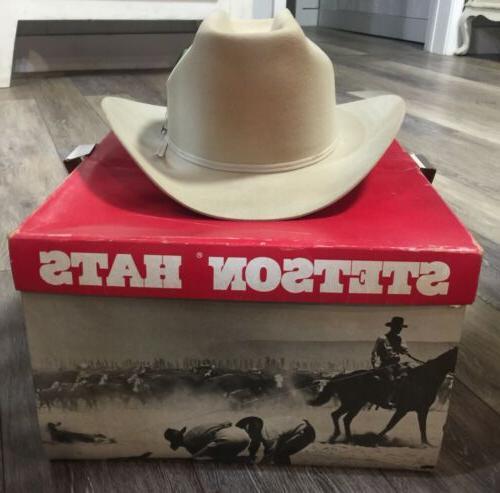 "VINTAGE B ""4X Cowboy ""Silver 1/2"