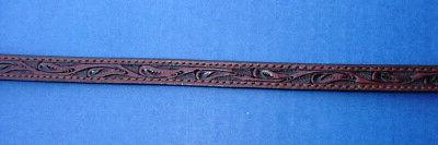"""Western Stamped HAT BAND 1/2"""""""