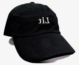 KB Ethos Lit Logo Adjustable Black Cotton Novelty Cap Dad Ha