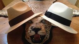STETSON * LOT OF  L * NEW MEN FEDORA HATS * PANAMA STYLE SUM