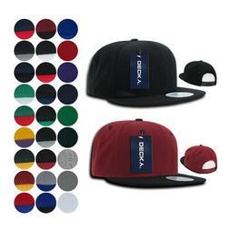 2 Dozen Blank Flat Bill Snapback Caps Hats Solid Two Tone DE