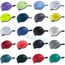 NIKE Men Featherlight Tennis Running Hat Cap Swoosh Dri-Fit